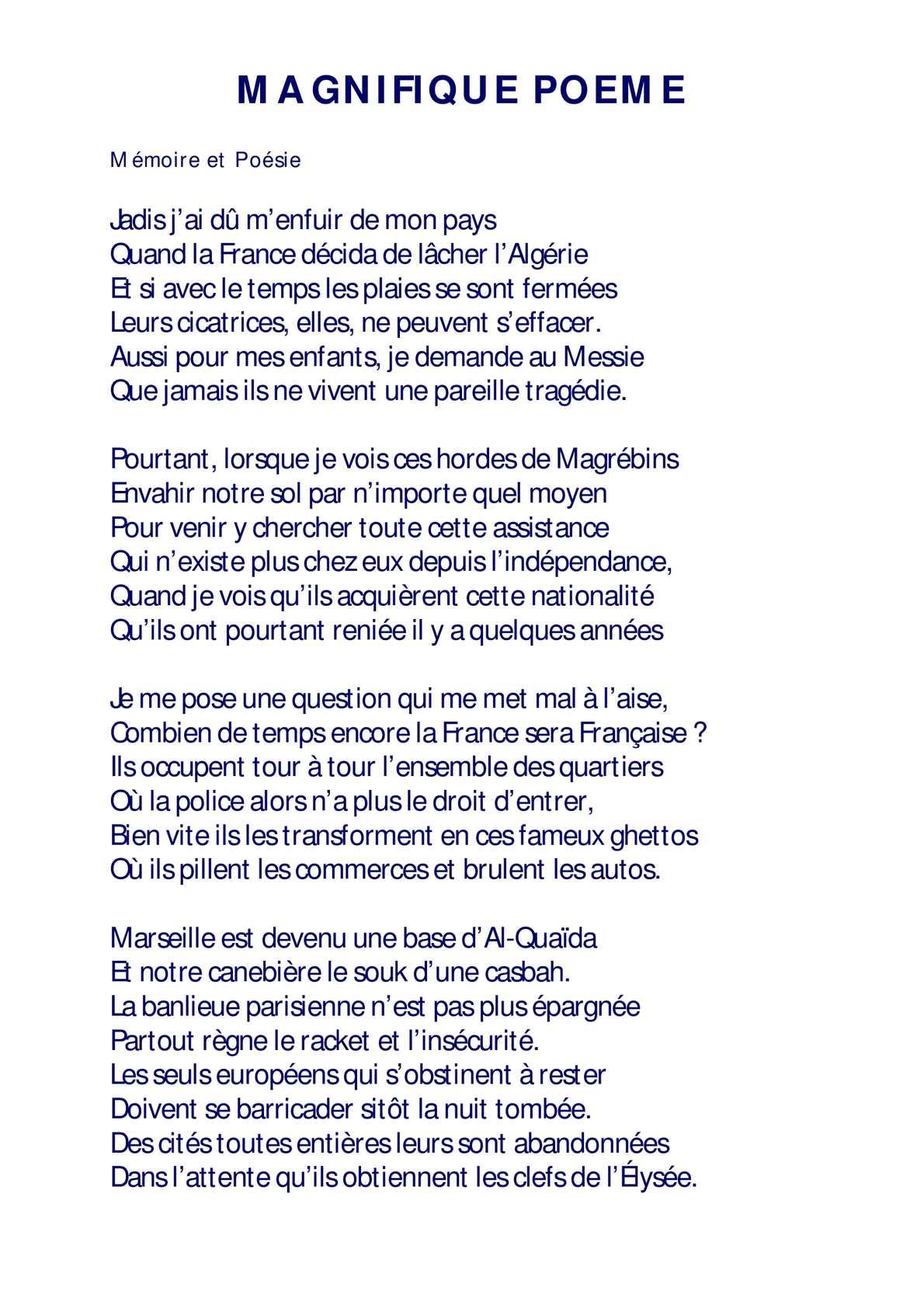 Calaméo Magnifique Poeme 1