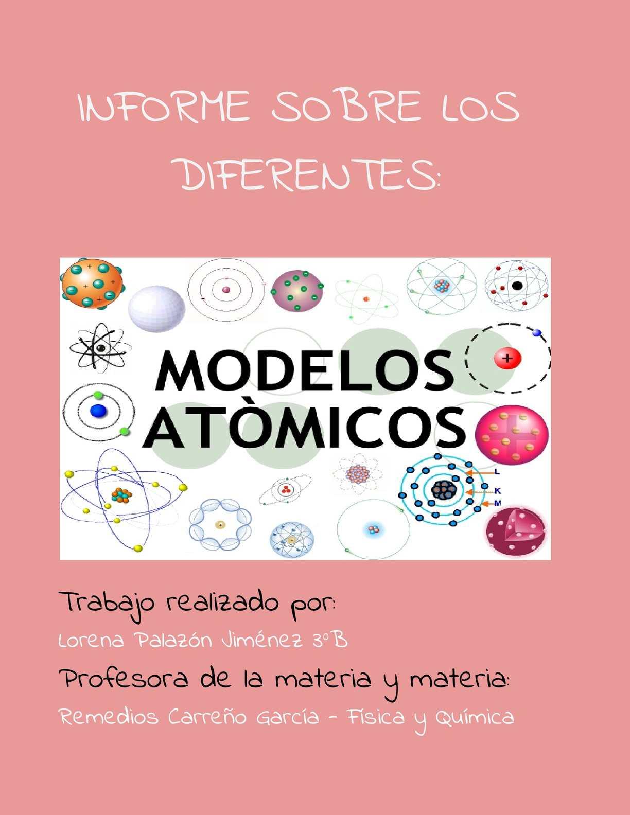 Calameo Informe De Los Modelos Atomicos