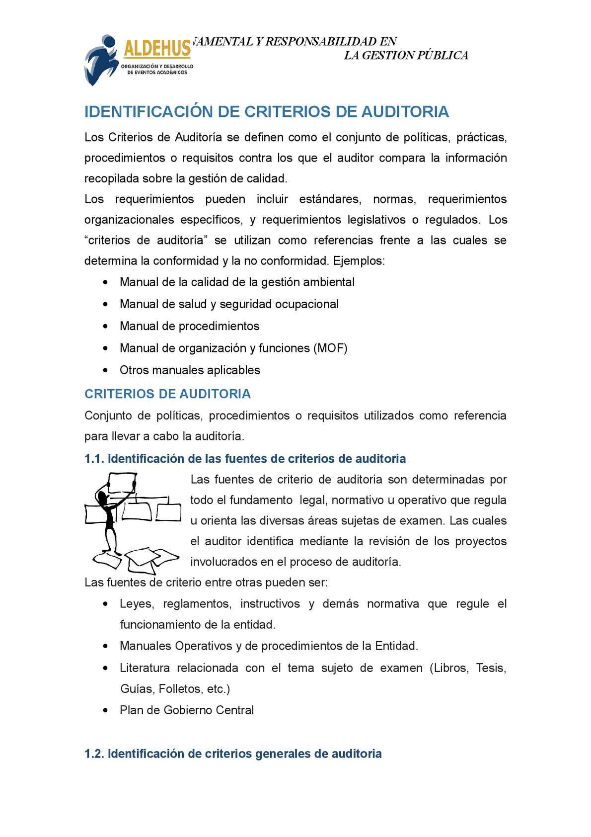 Calaméo 5 Identificación De Criterios De Auditoria