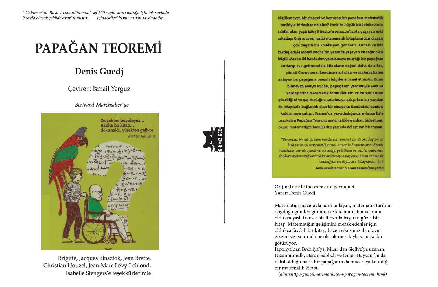 Papağan Teoremi (çev.İsmail Yerguz) - Denis Guedj