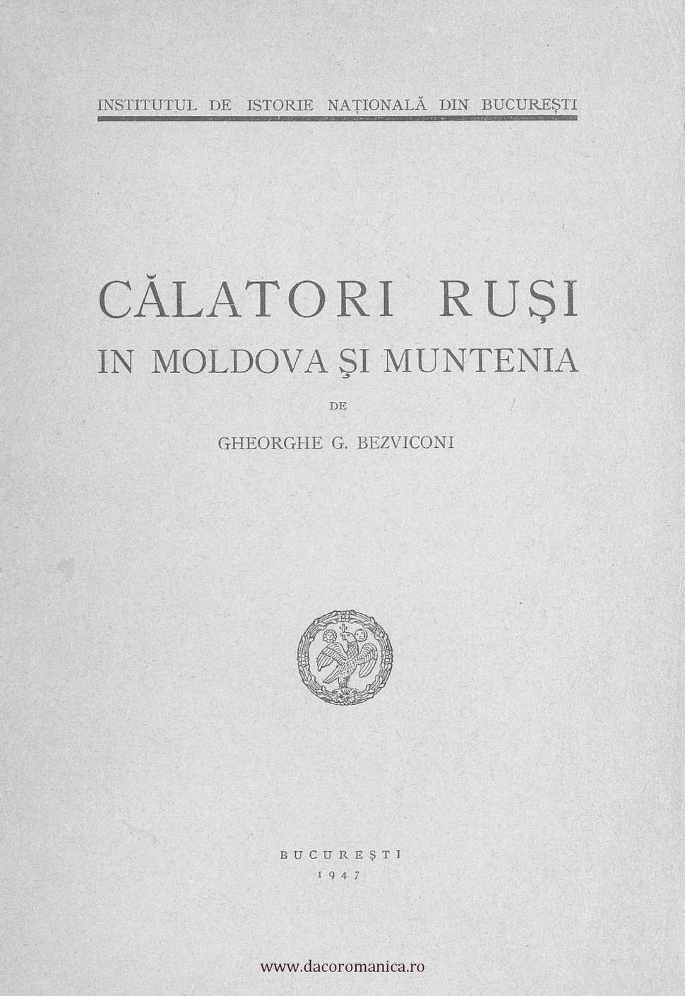 Calaméo Călători Ruși în Moldova și Muntenia