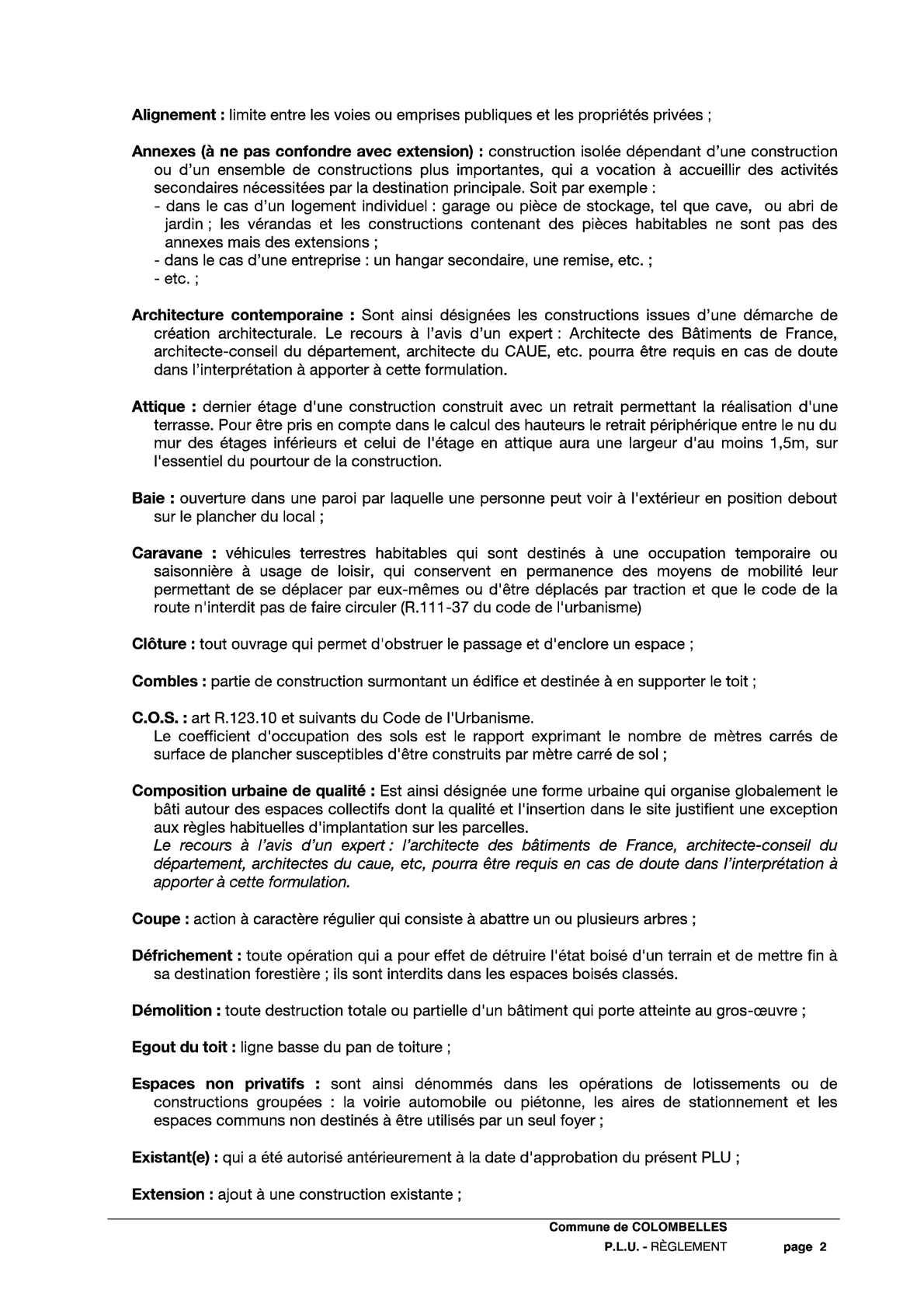 Des Sols Et Des Murs Avis plu clombelles_réglement - calameo downloader