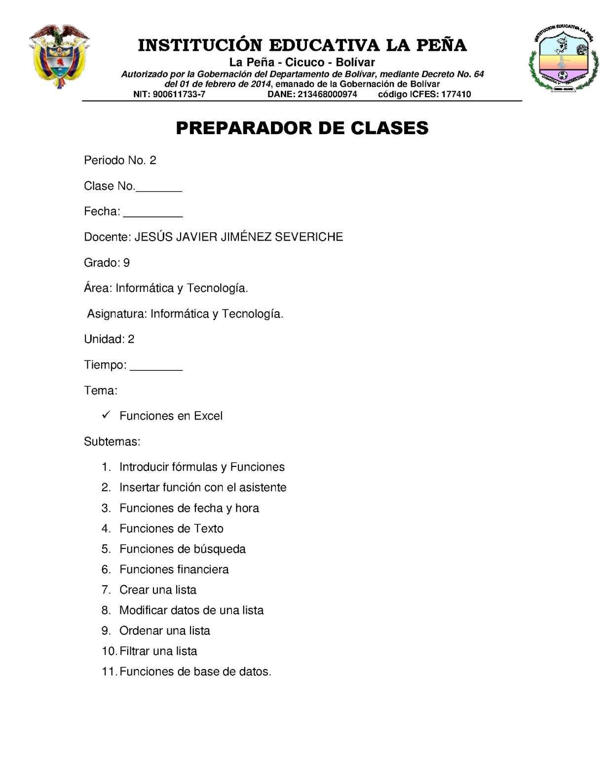 Preparador De Clases 9