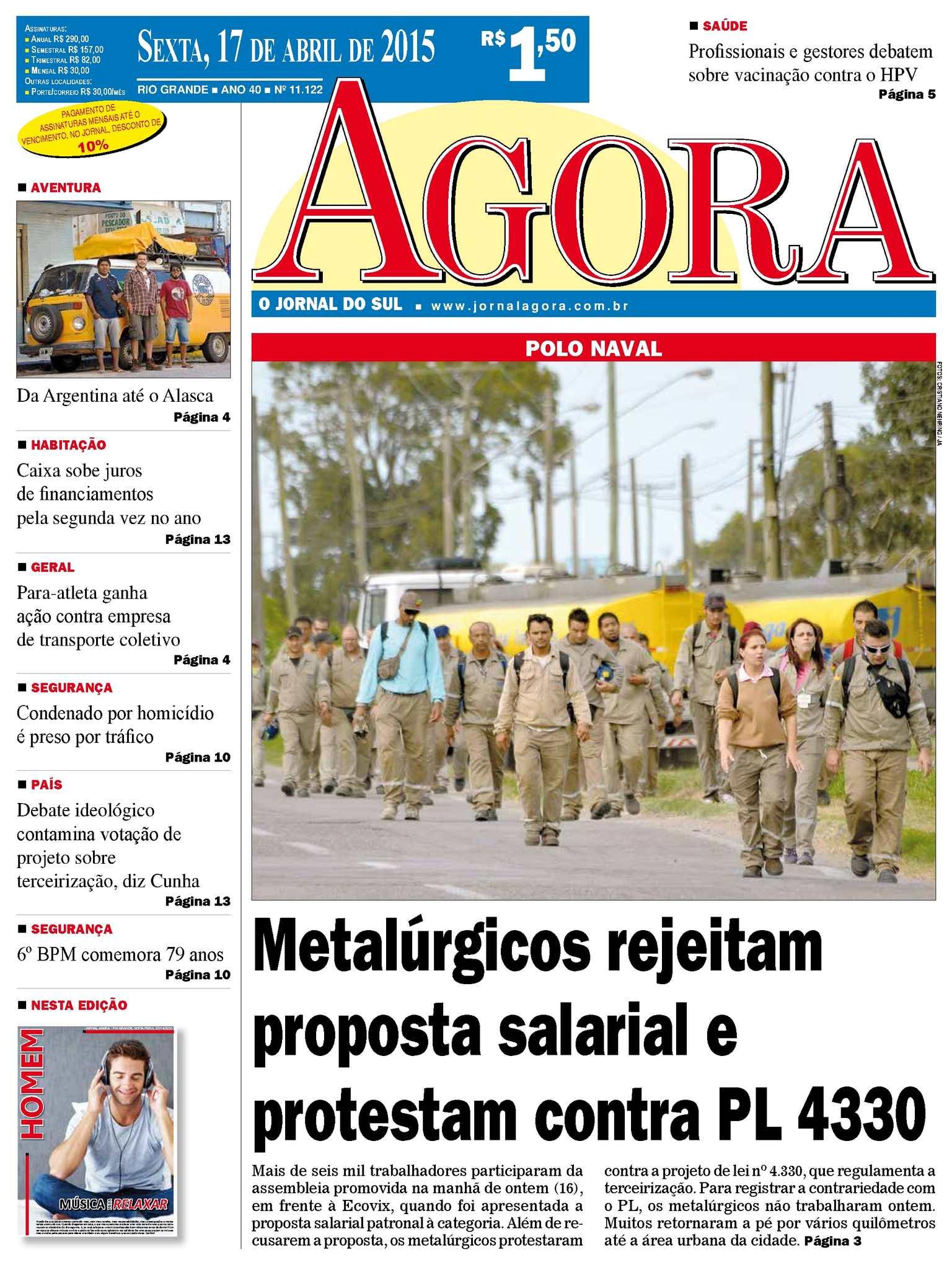 d662b750956 Calaméo - Jornal Agora - Edição 11122 - 17 de Abril de 2015