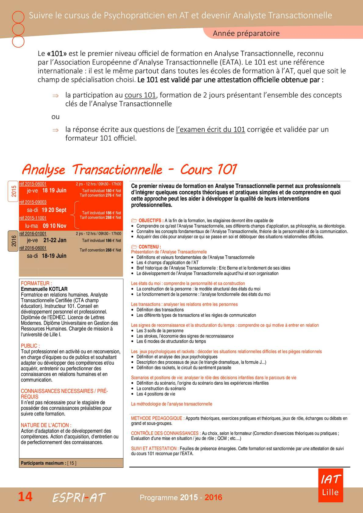 Calameo Cours 101 Introduction A L Analyse Transactionnelle