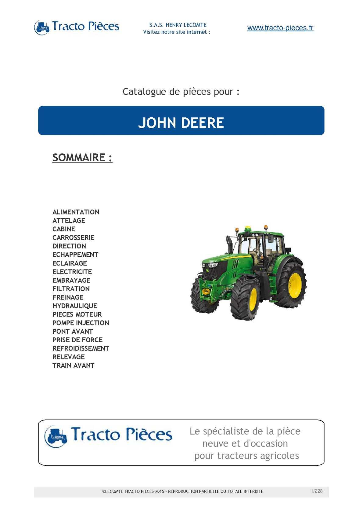 Pompe à eau pour JOHN DEERE Tracteurs 6100 6200 6300 6400 6506 6600 6800 6900 7600