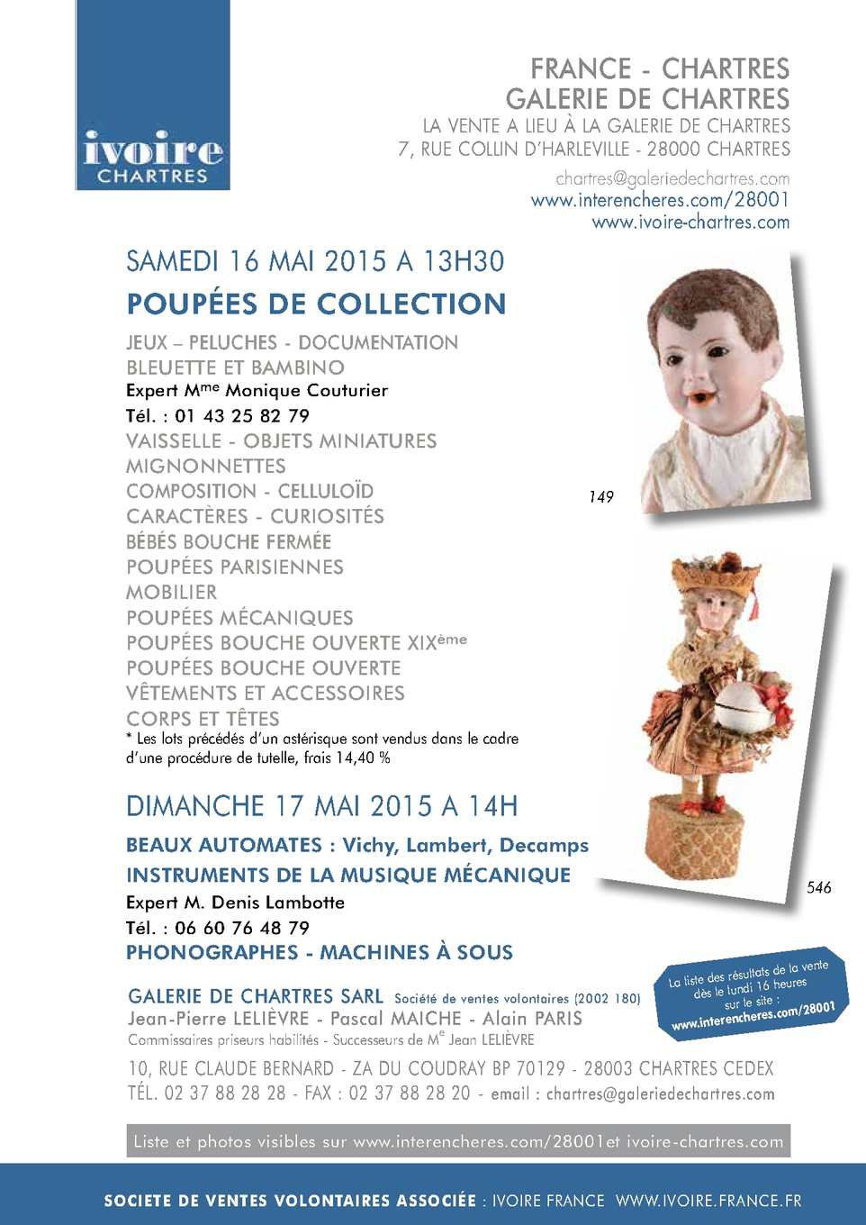 bc2a1e7d263b POUPEES DE COLLECTION - Samedi 16 mai 2015 à 13h30 ...