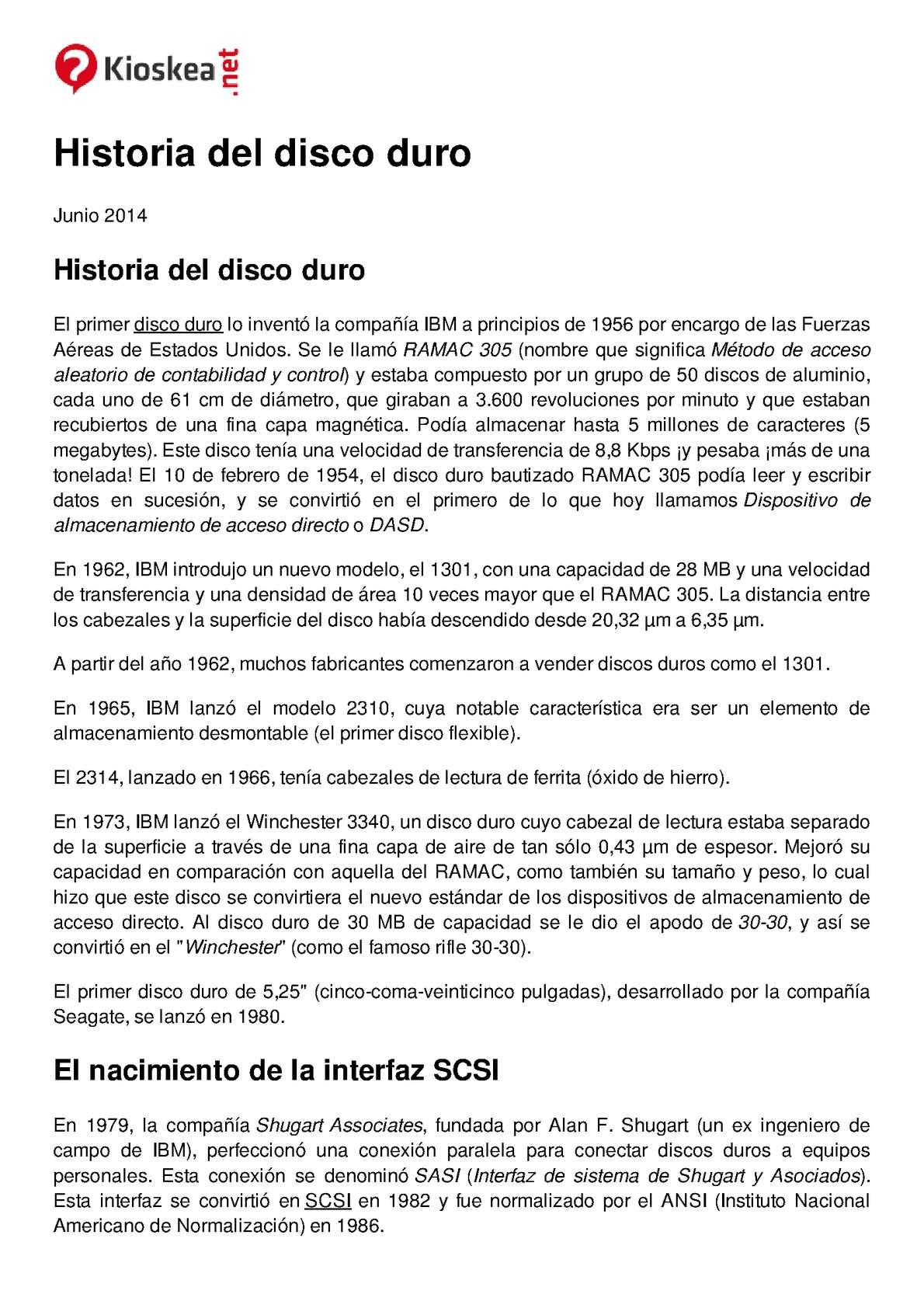 Calaméo - Historia Del Disco Duro