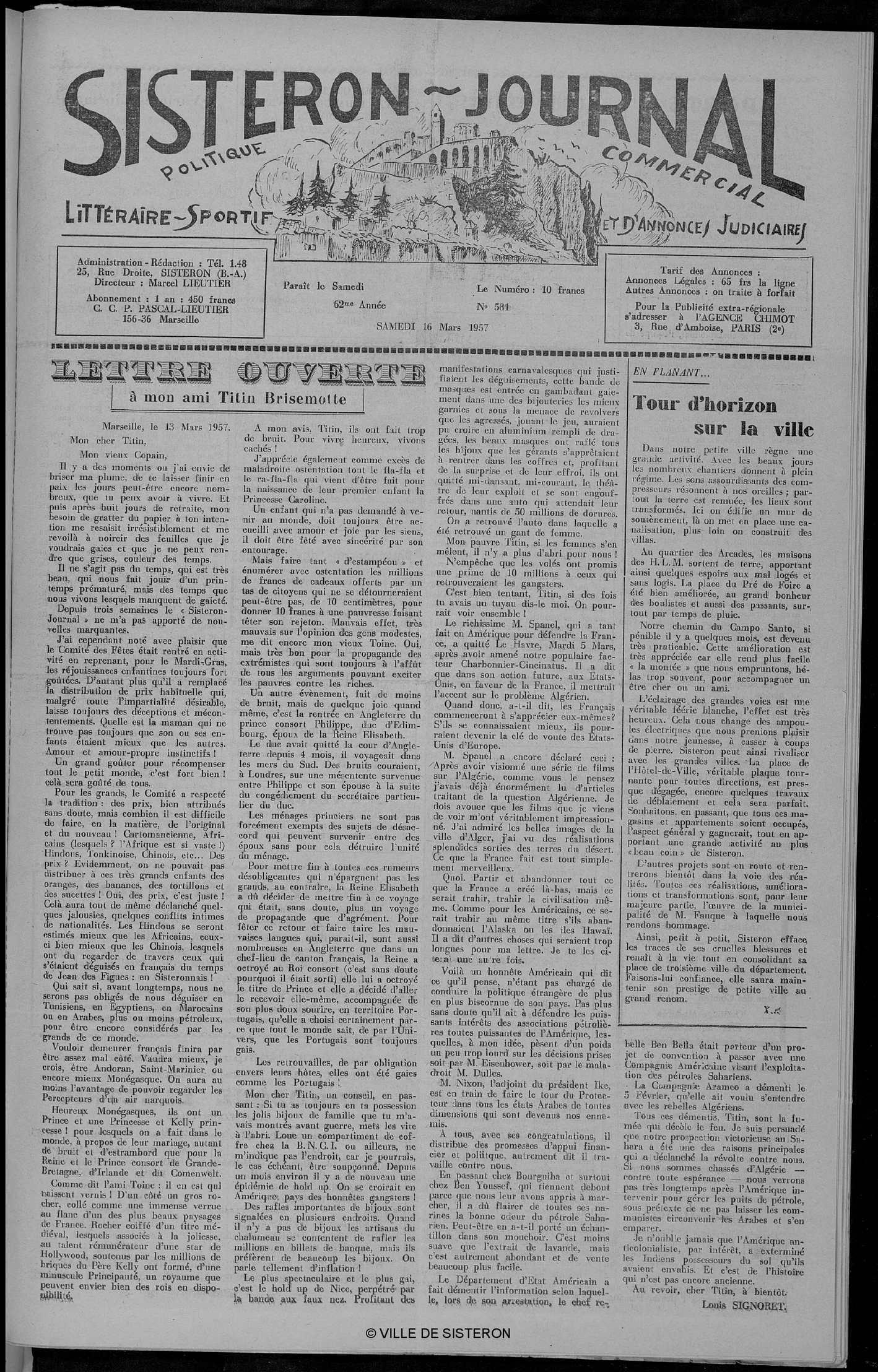 bcb8b7f71 Calaméo - Le Sisteron Journal du 16 03 1957