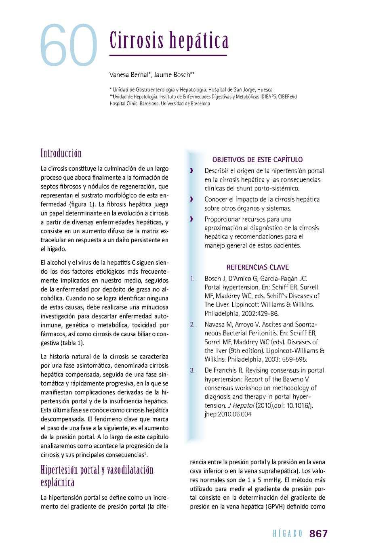 Fármaco de elección para complicaciones de hipertensión portal
