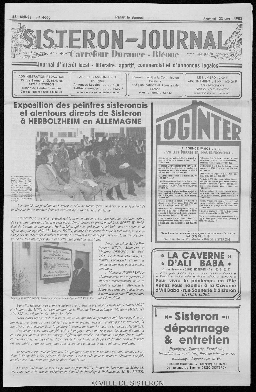 Calaméo Le Sisteron Journal Du 23041983