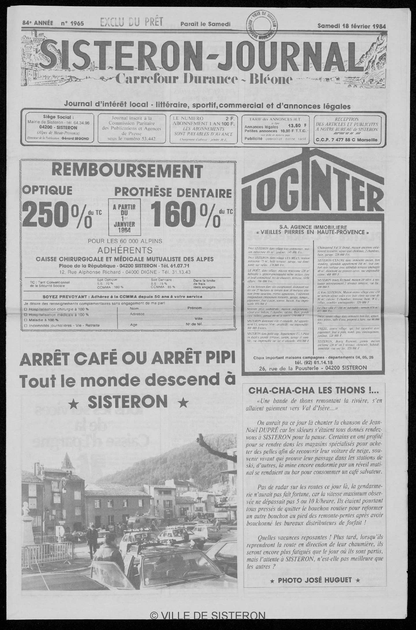 Calaméo Le Sisteron Journal Du 18021984