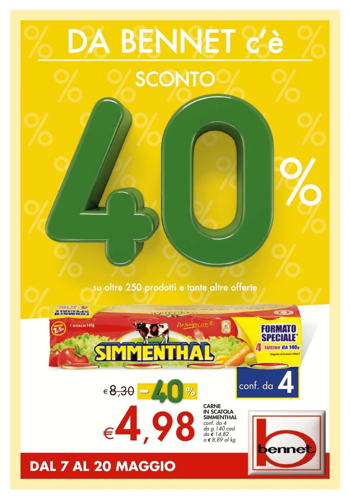 cheap for discount dd806 aabb9 Calaméo - Volantino Bennet Dal 7 Al 20 Maggio