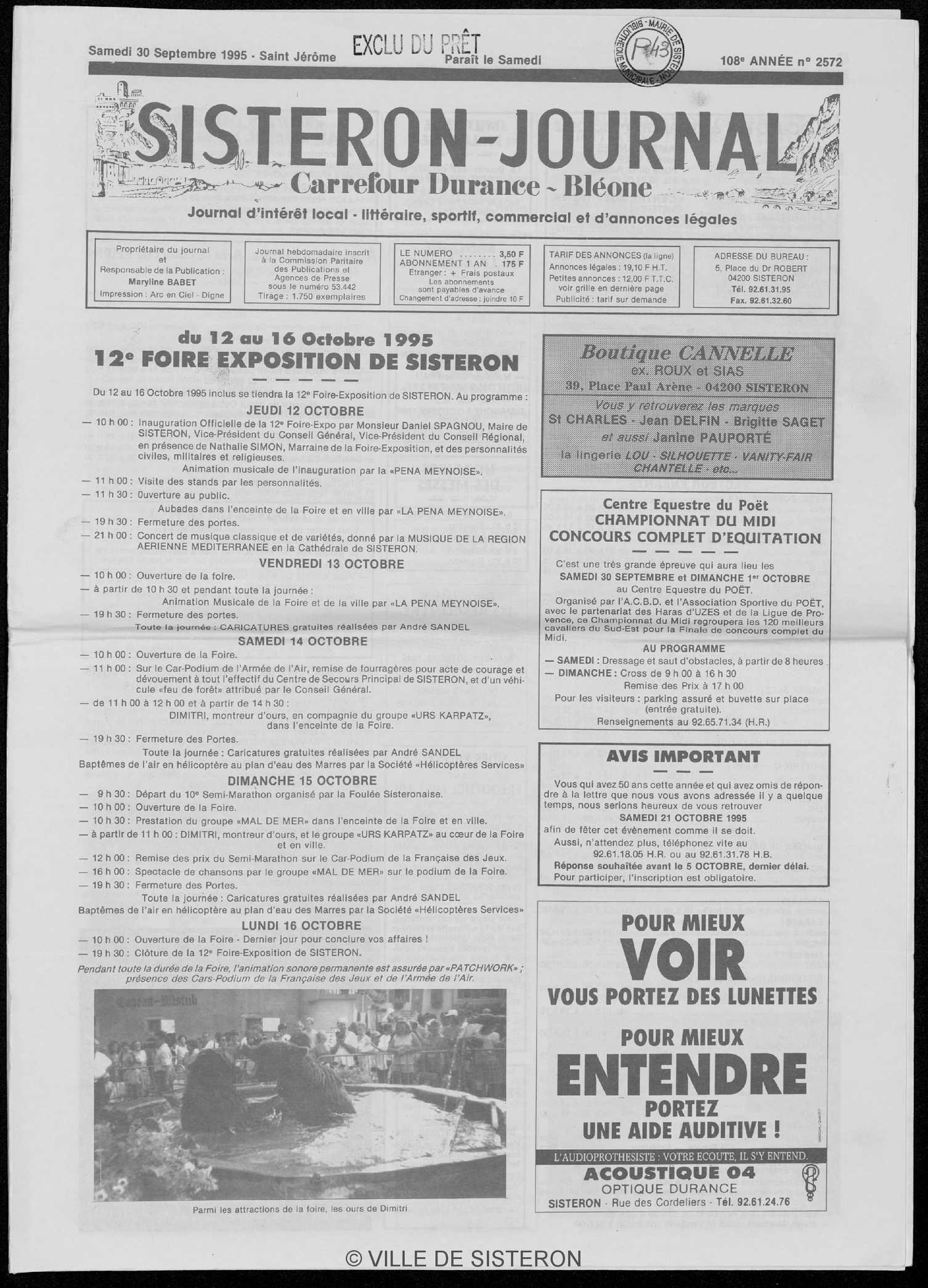 Calaméo Le Sisteron Journal Du 30091995