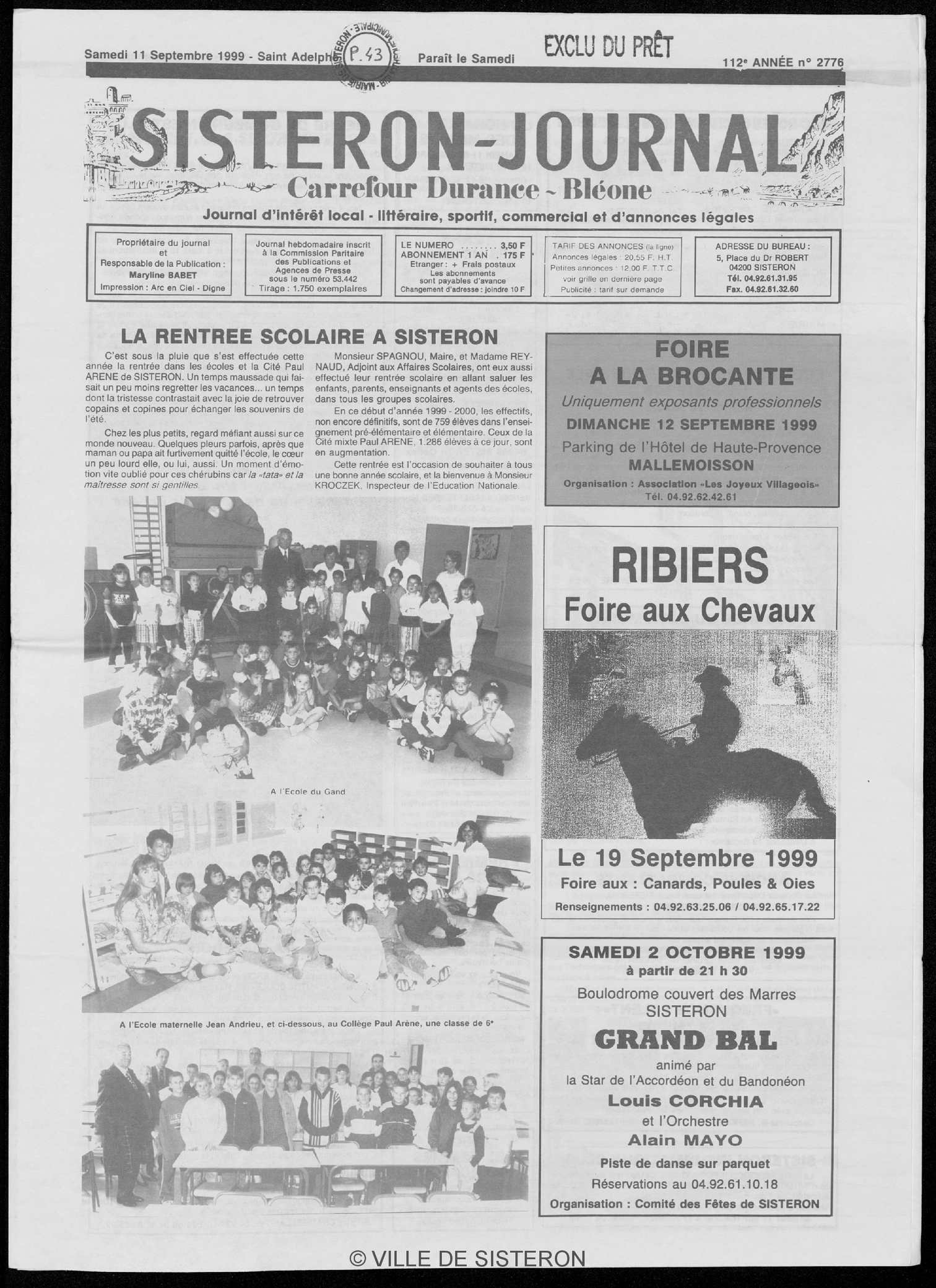 Le Journal Du 11091999 Calaméo Sisteron eEDI29HWY