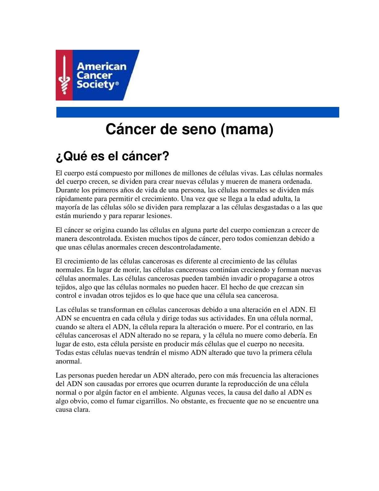 fc33fd40f Calaméo - Cancer De Mama
