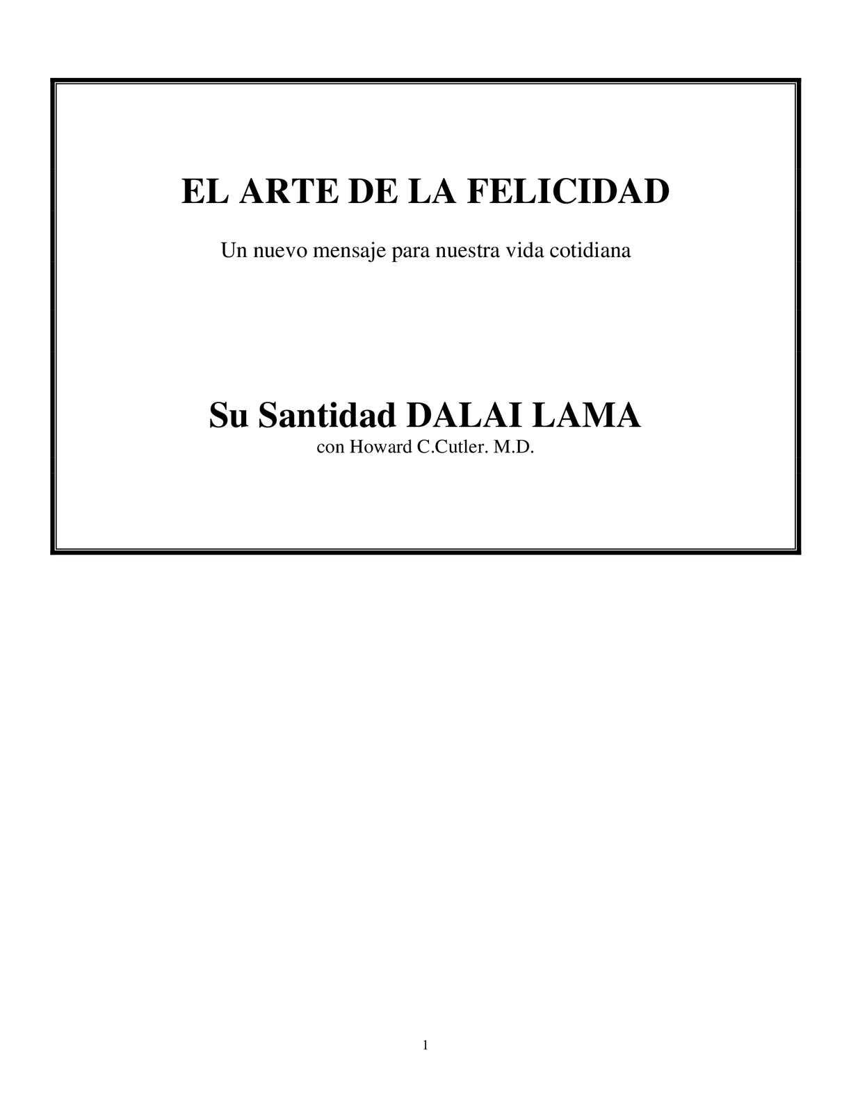 Calaméo Arte De La Felicidad Dalai Lama