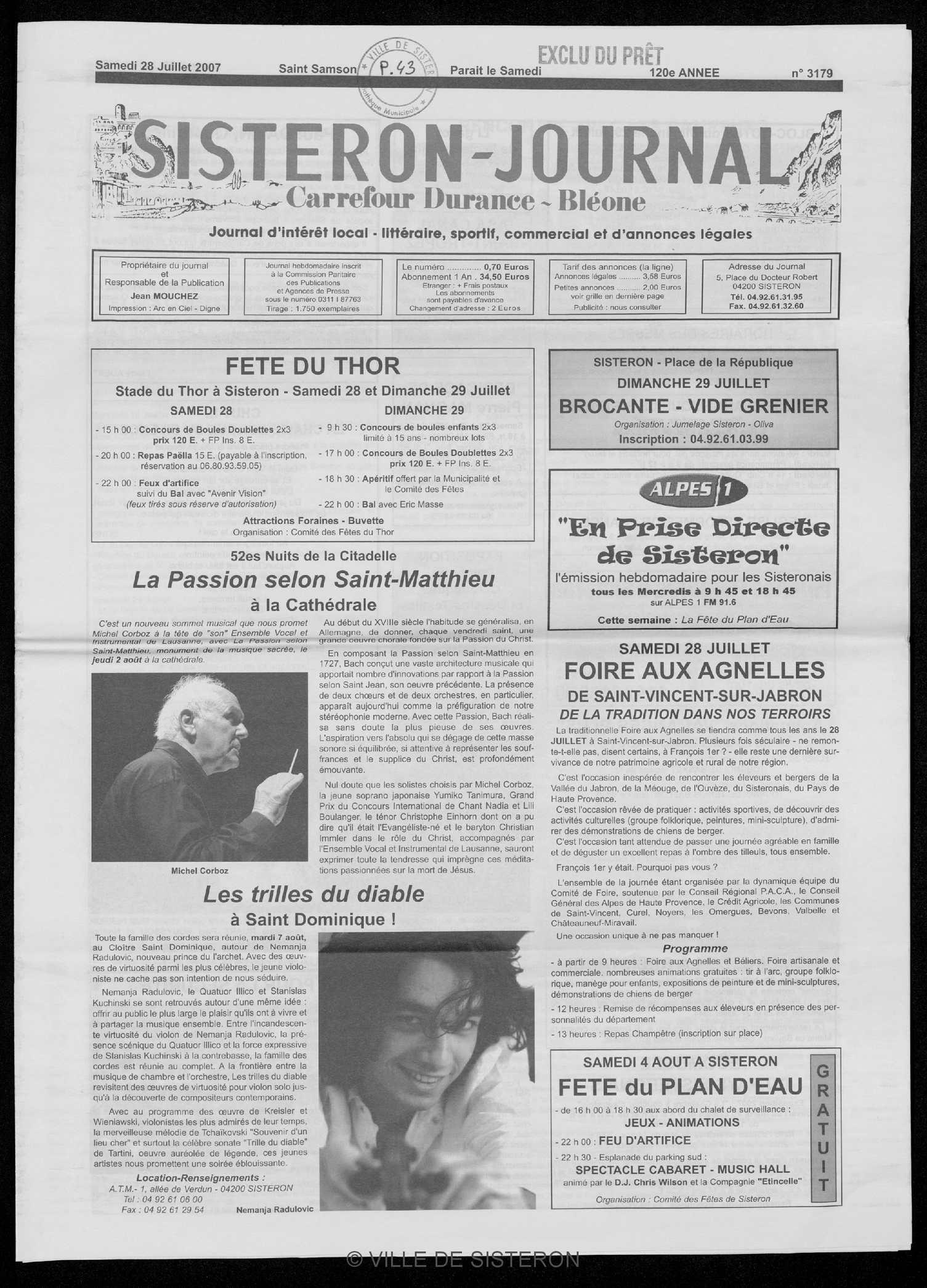 Calaméo Le Sisteron Journal Du 28072007