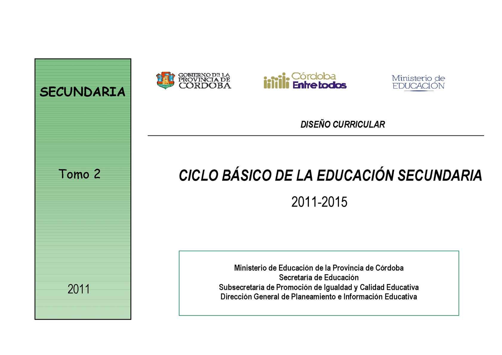 Calaméo Diseño Curricular C B Córdoba