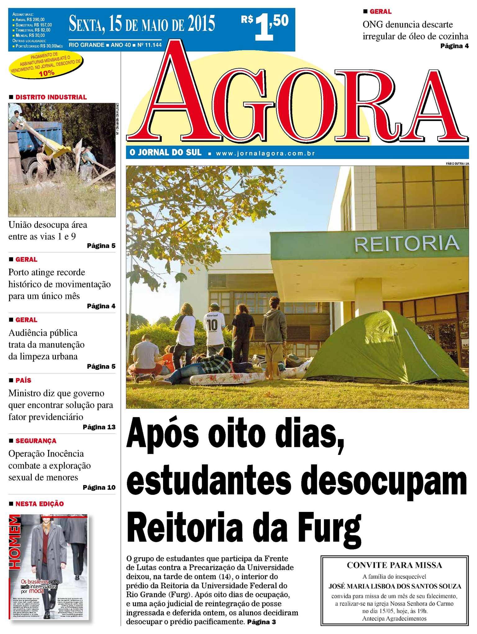 b37146d50 Calaméo - Jornal Agora - Edição 11144 - 15 de Maio de 2015