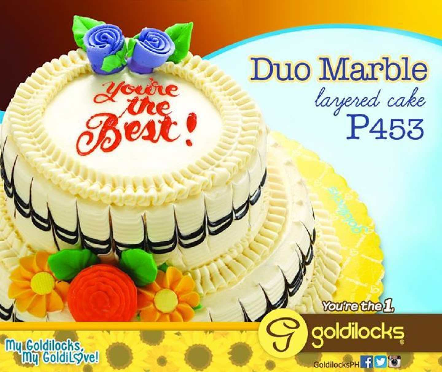 Amazing Calameo Have A Duo Marble Layered Cake For Only P453 From Funny Birthday Cards Online Alyptdamsfinfo
