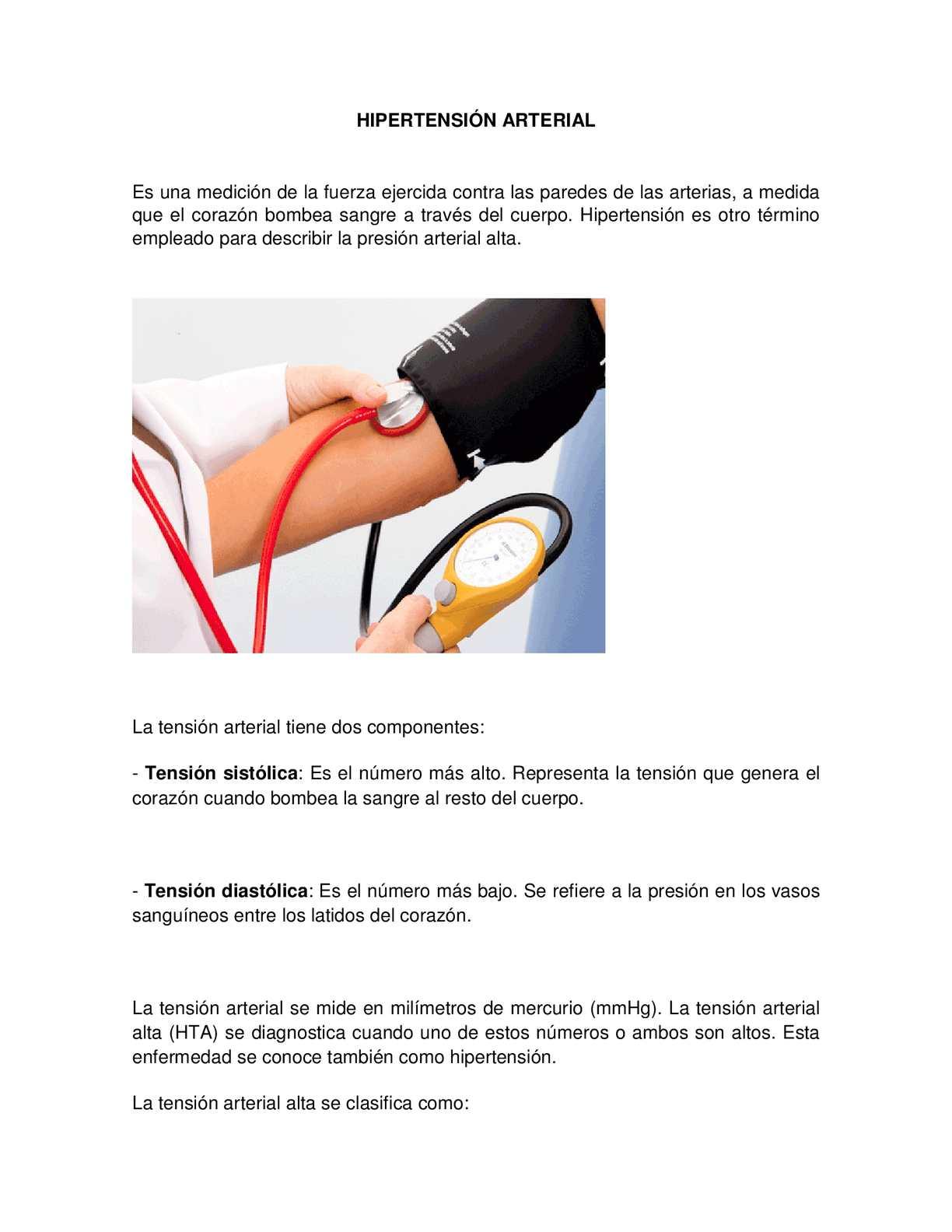 ¿Qué es la presión arterial sistólica peligrosamente alta?