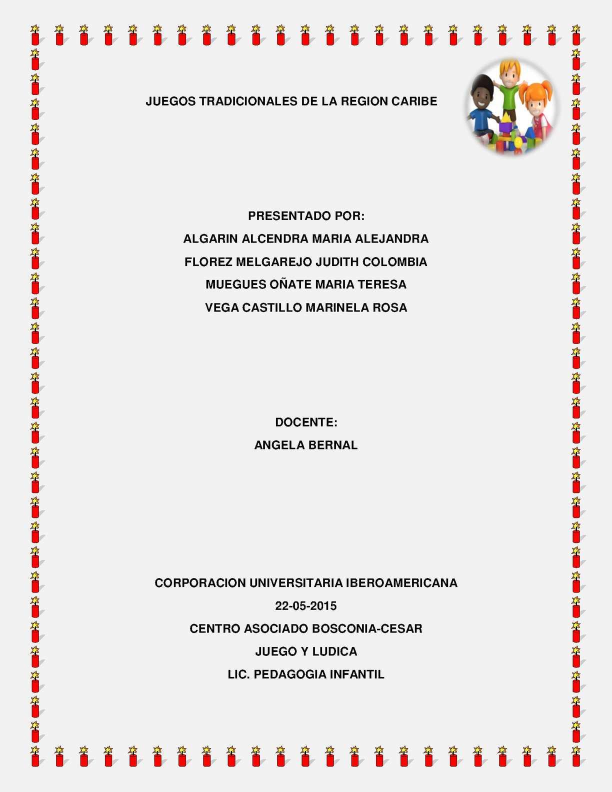 Calameo Juegos Tradicionales De La Region Caribe