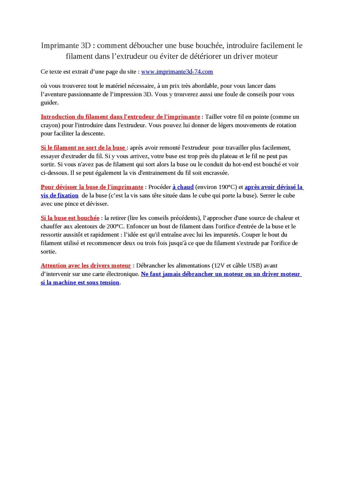 Dévisser Une Vis Sans Tête calaméo - imprimante 3d : conseils importants