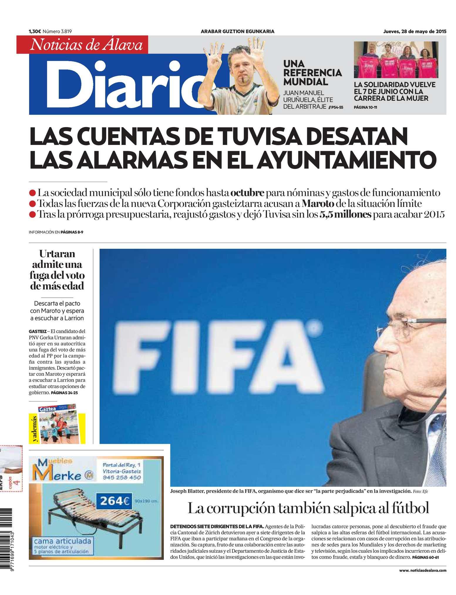 cfcdf9d7e1216 Calaméo - Diario de Noticias de Álava 20150528