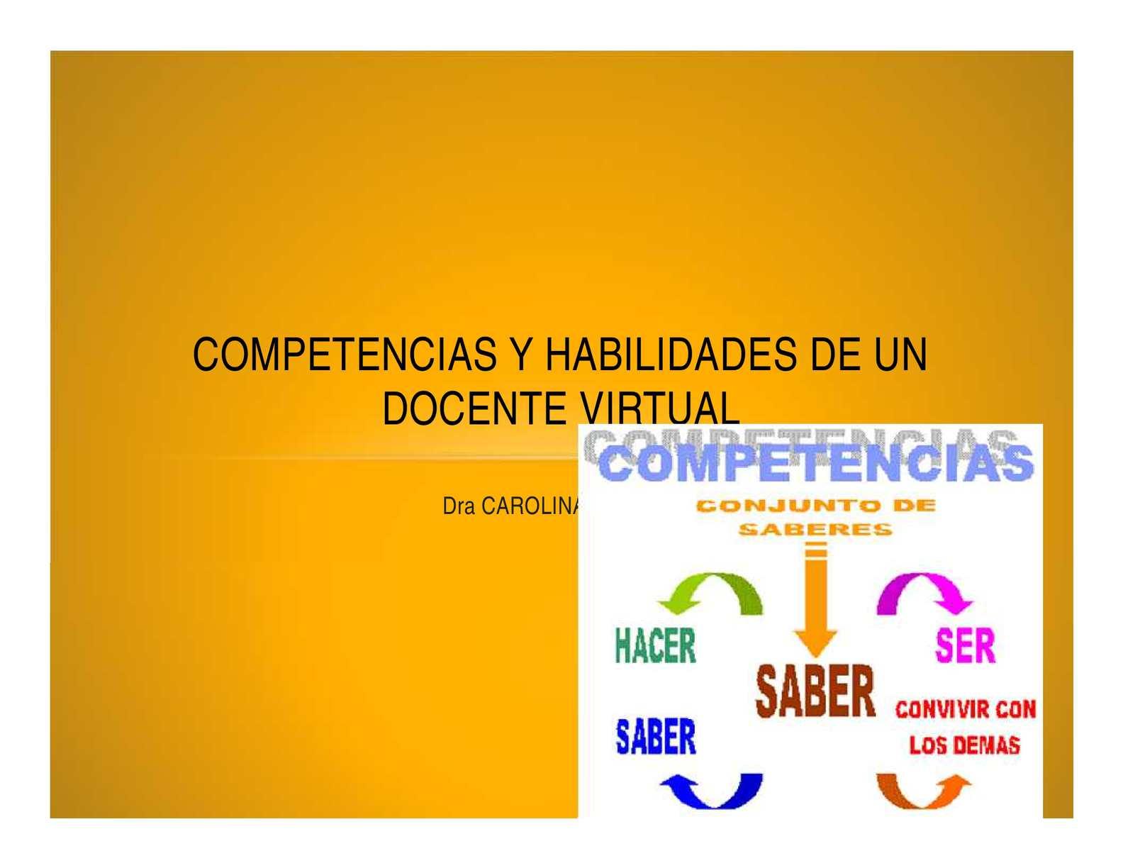 Calaméo Competencias Y Habilidades De Un Docente Virtual