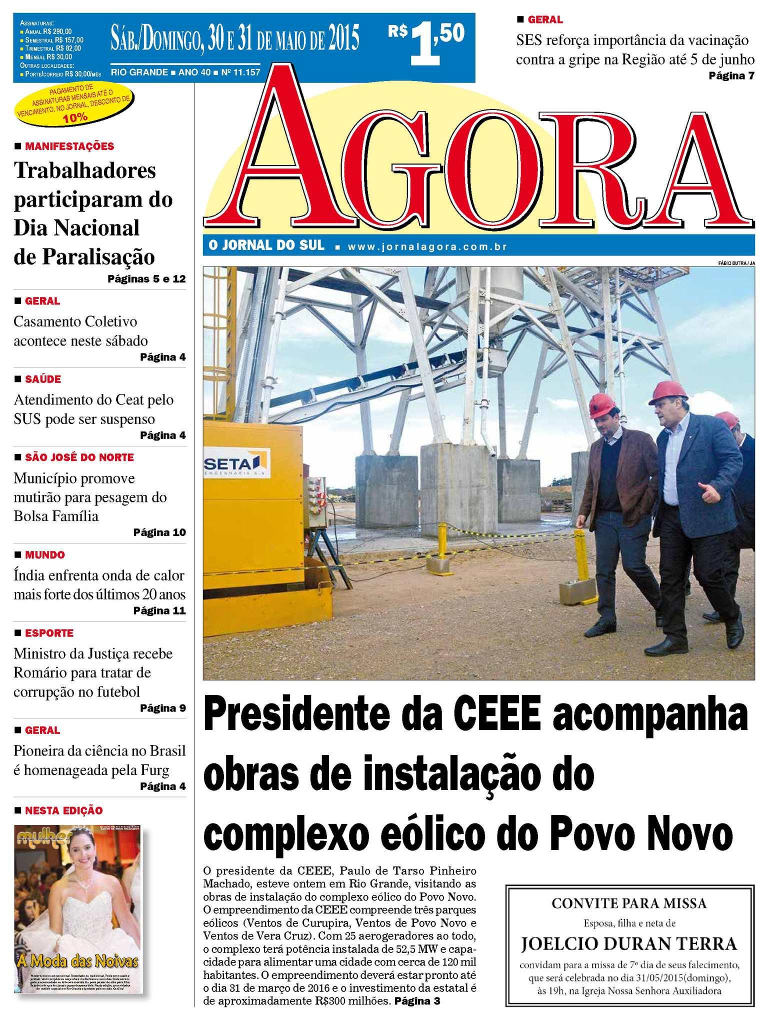 7f086481e0 Calaméo - Jornal Agora - Edição 11157 - 30 e 31 de Maio de 2015