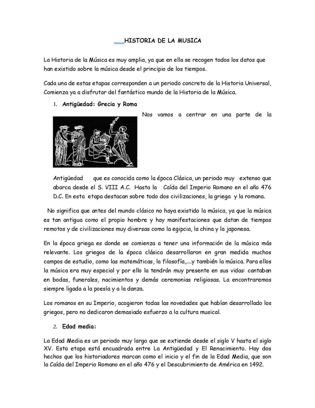 Calameo Historia De La Musica