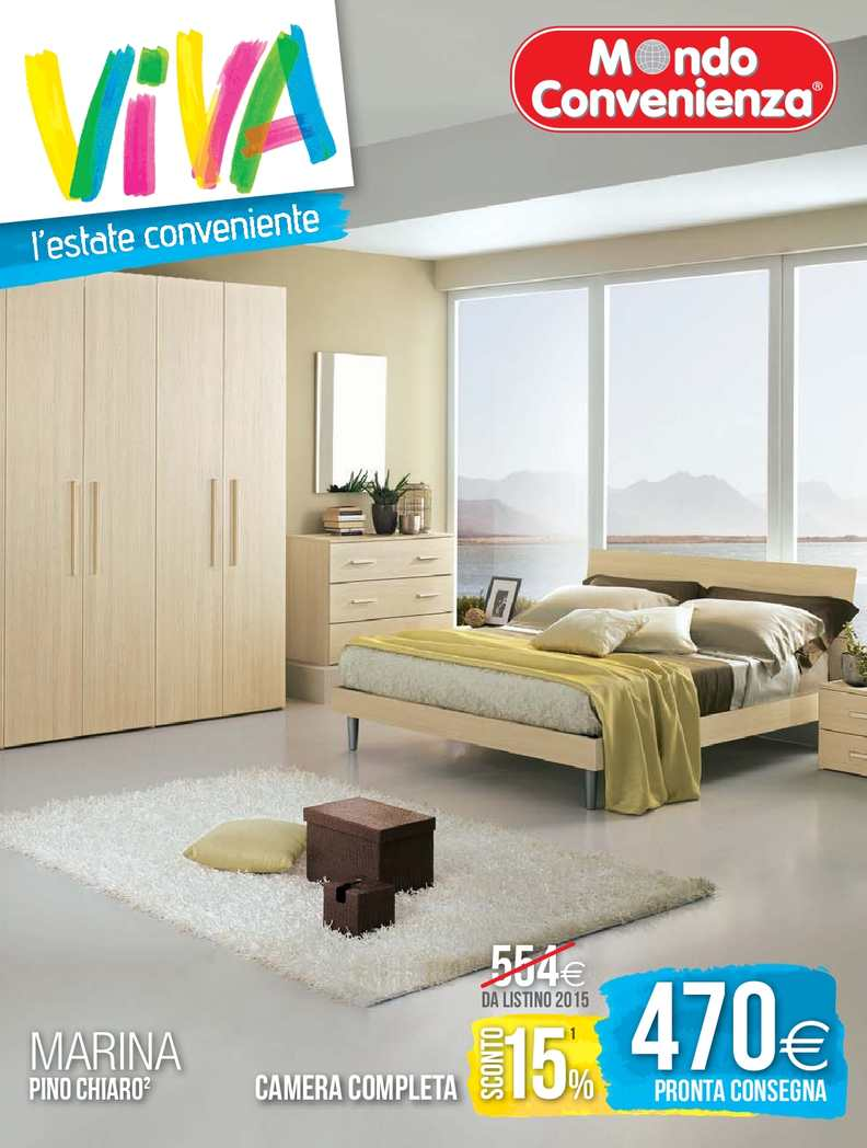 Letto Capri Mondo Convenienza.Calameo Catalogo Mondo Convenienza Estate Camere 2015