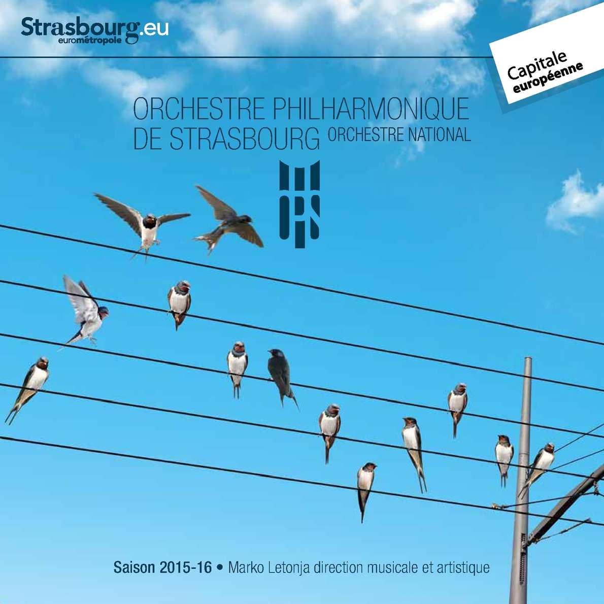Orchestre Philharmonique de Strasbourg - Saison 2015 - 2016