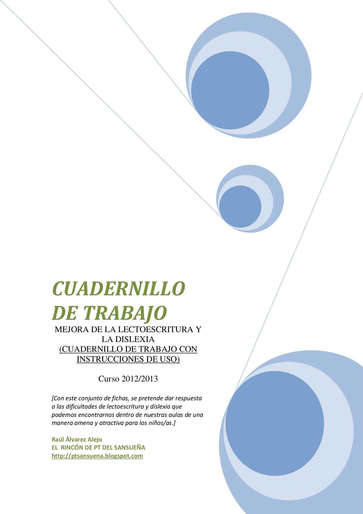 79a605ae4fc7 Calaméo - Cuadernillo De Trabajo Mejorar La Lectoescritura Dislexia
