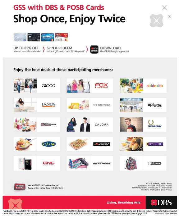 Calaméo - Shop Once Enjoy Twice This Gss With Dbs Posb Cards Valid