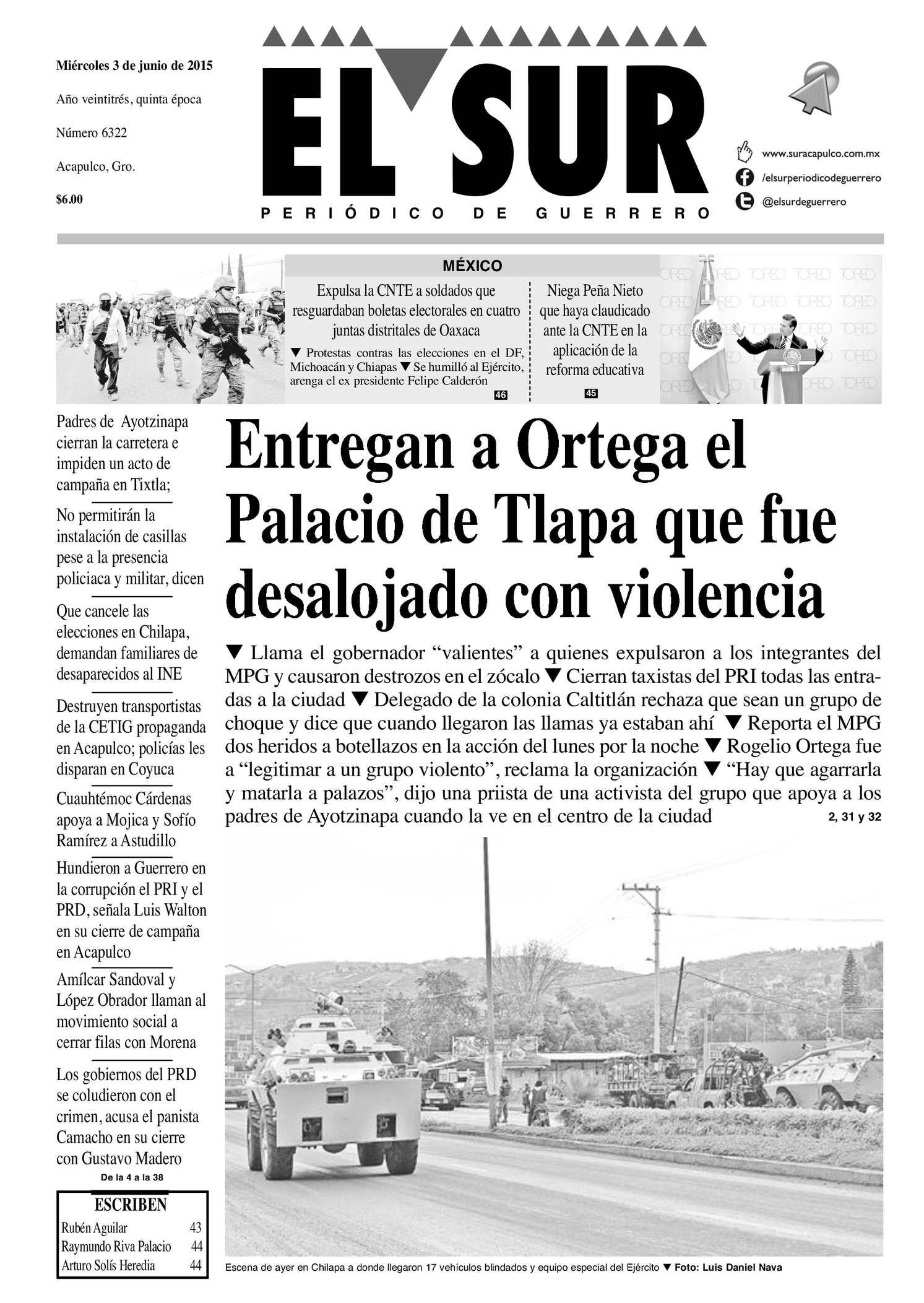 c5de602615 Calaméo - El Sur Miercoles 03062015