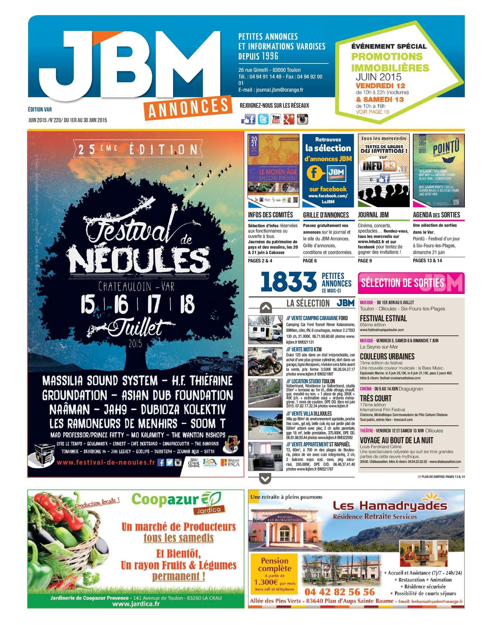 f0058958d1700f Calaméo - Journal JBM Annonces n°220 Juin 2015
