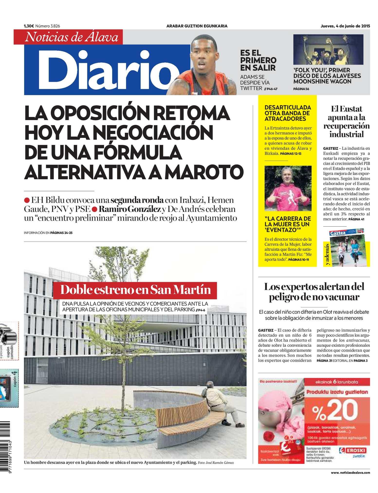 separation shoes 02d6d 494a4 Calaméo - Diario de Noticias de Álava 20150604