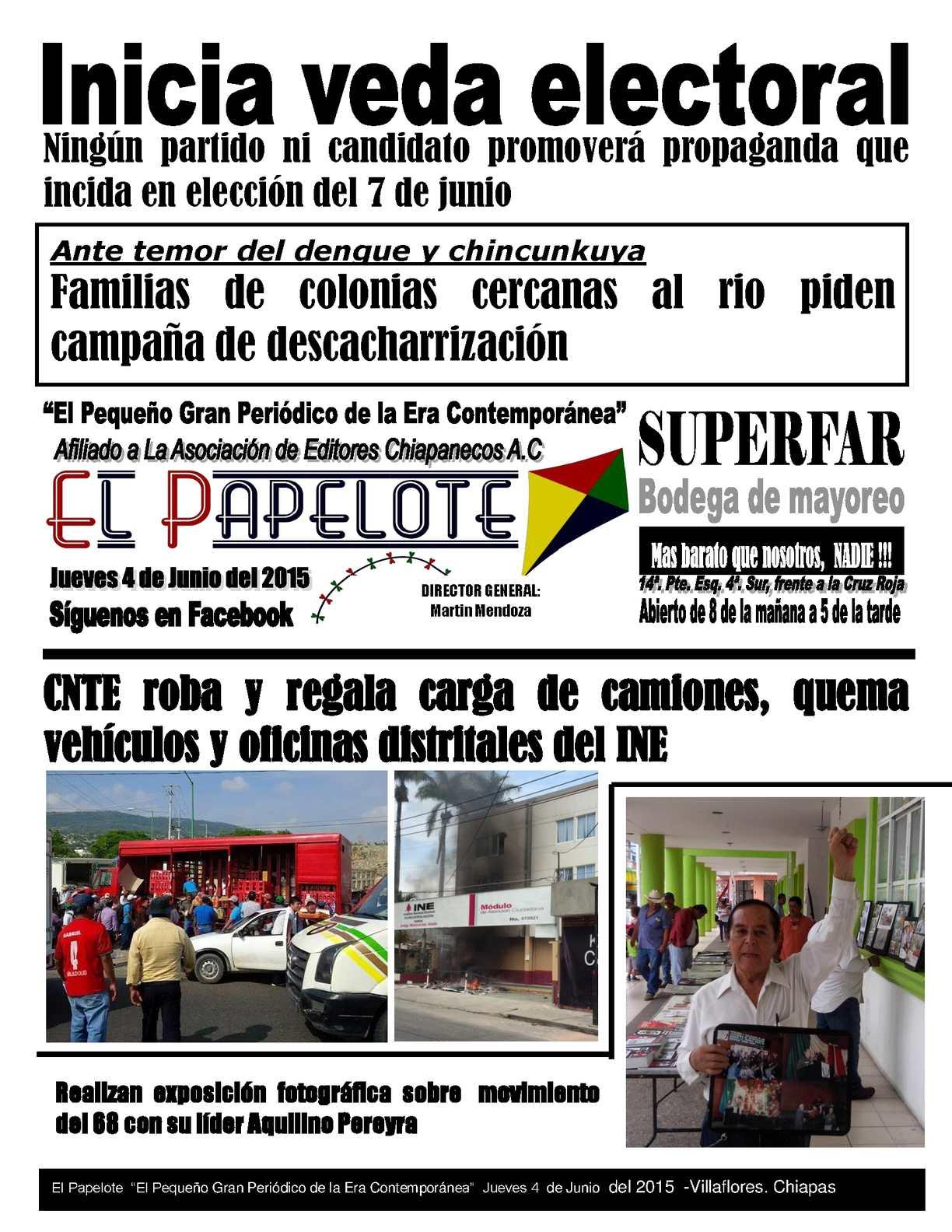 Calaméo 4 De Junio Del Papelote Del Jueves Del 2015