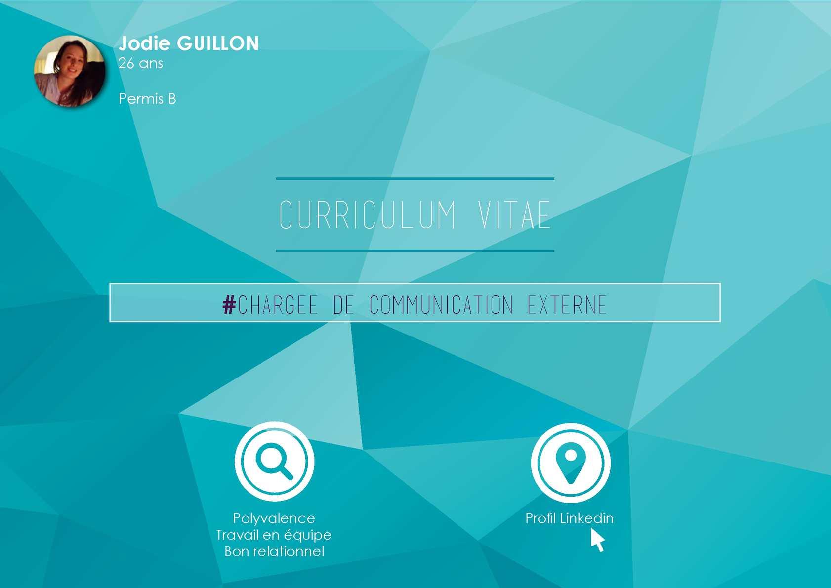 calam u00e9o - cv jodie guillon communication digitale en master 2