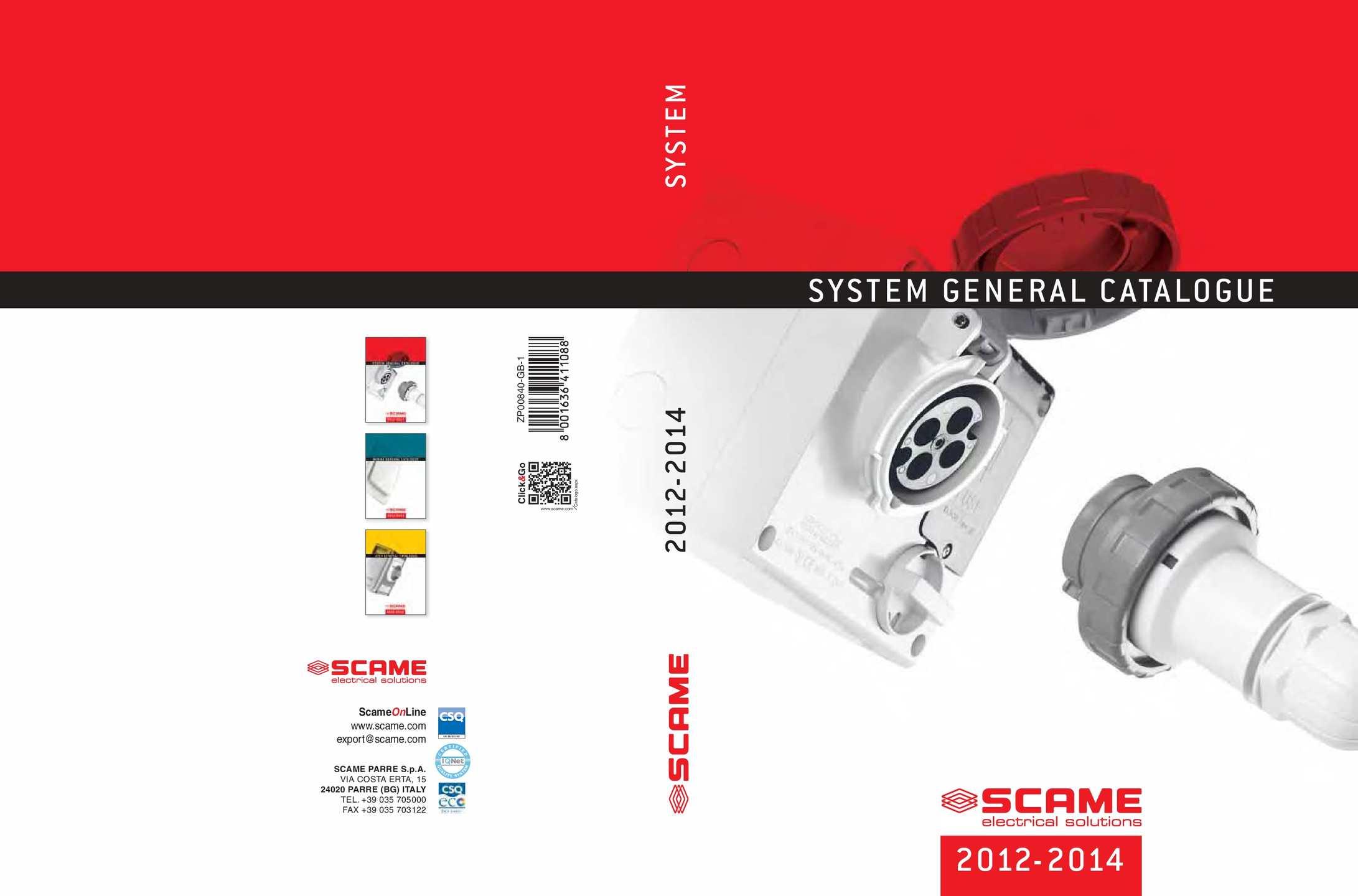 Calam 233 O Scame General Catalogue