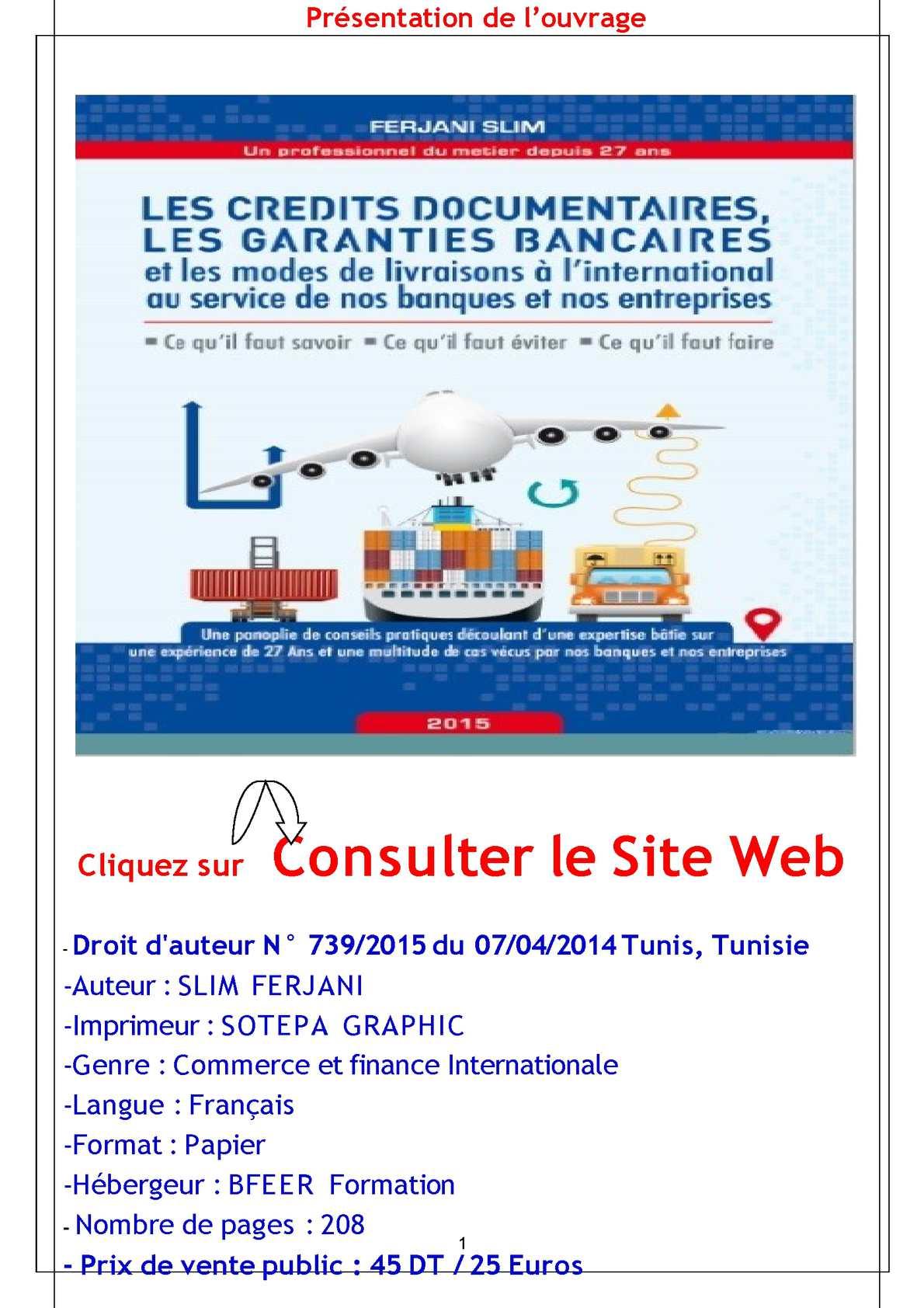 CREDIT DOCUMENTAIRE TUNISIE PDF