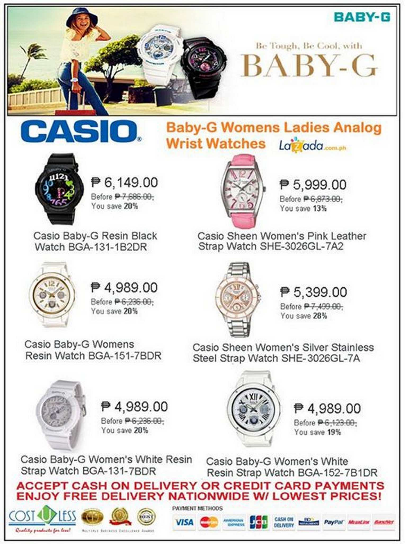 Casio Baby G Womens Watch Sale At Cost U Less While Stocks Last68311 68311 67d5de82a