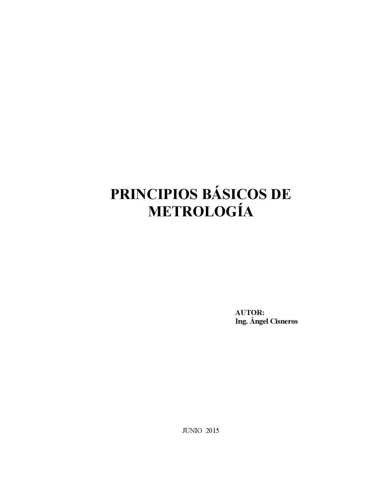 Prinicipios Basicos Metrologia