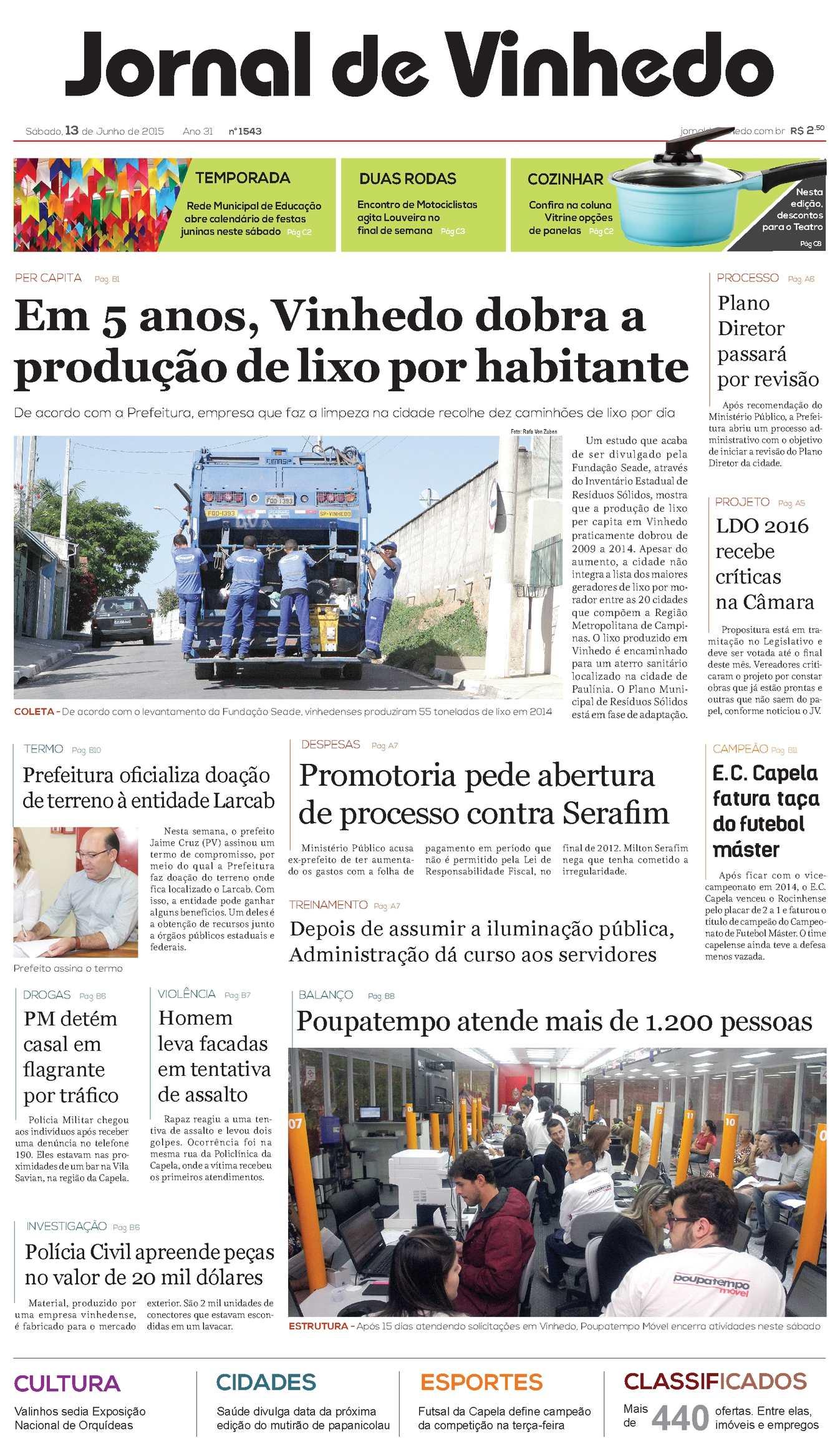 b5480cbd9 Calaméo - Jornal De Vinhedo Sábado, 13 De Junho De 2015 Edic1543