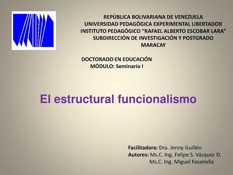 Calaméo Presentación Estructural Funcionalismo