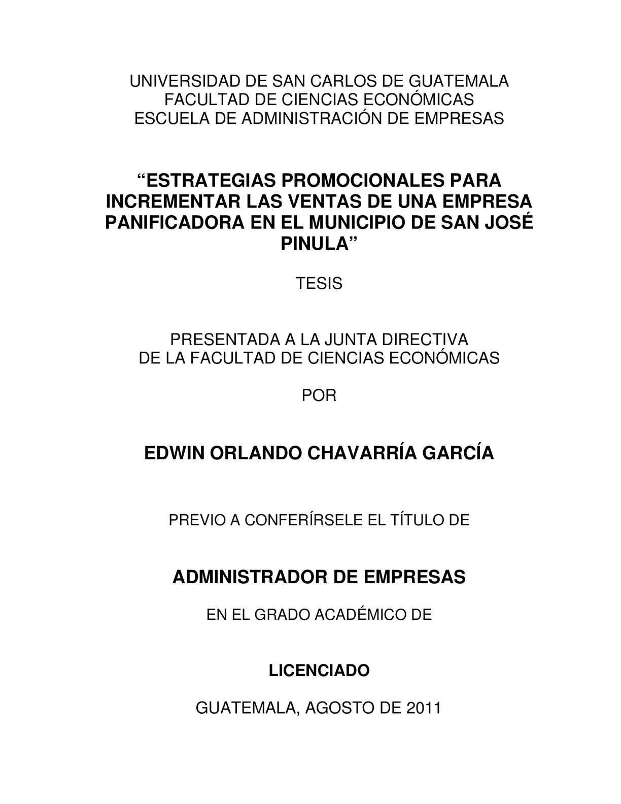 """Calaméo - """"Estrategias Promocionales Para Incrementar Las Ventas De Una  Empresa Panificadora En El Municipio De San José Pinula"""" 6ec5f13f980"""