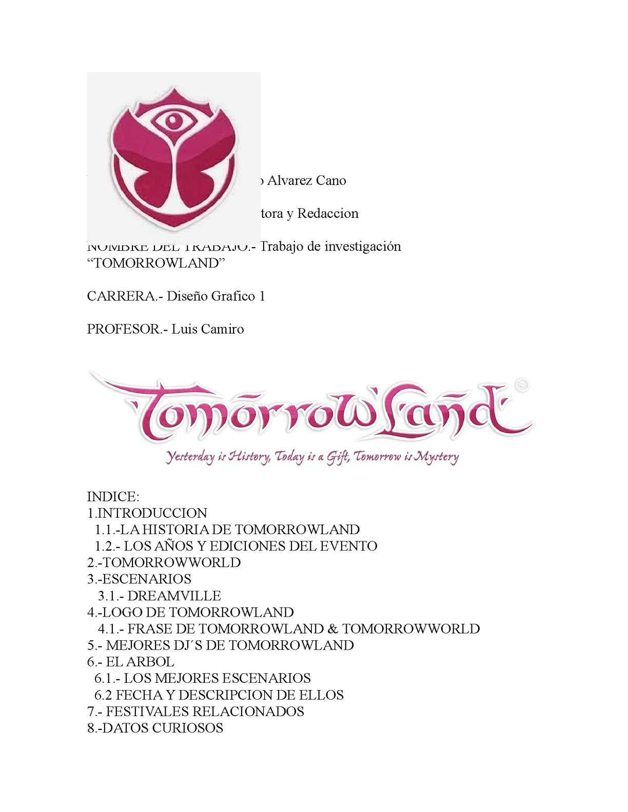 Calaméo Tomorrowland