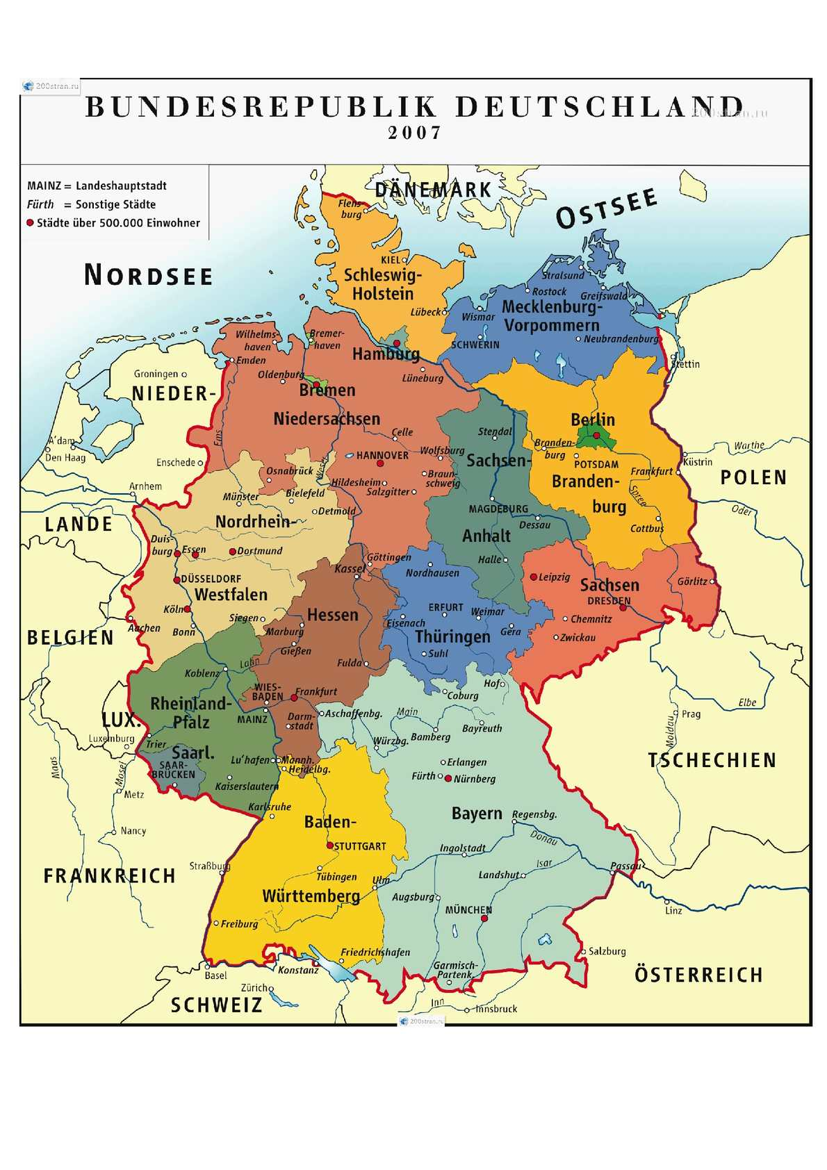 Calameo Die Karte Deutschlands
